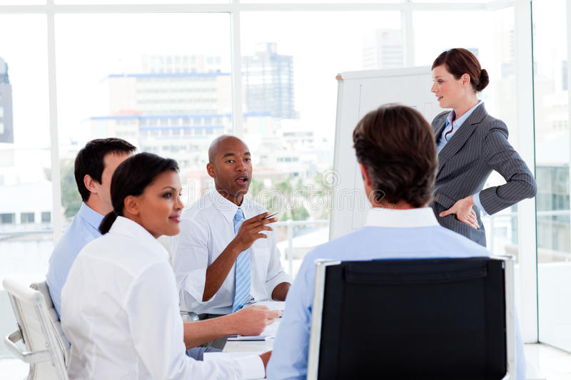 Download Serious Business People At A Presentation Stock Image - Image: 12024787