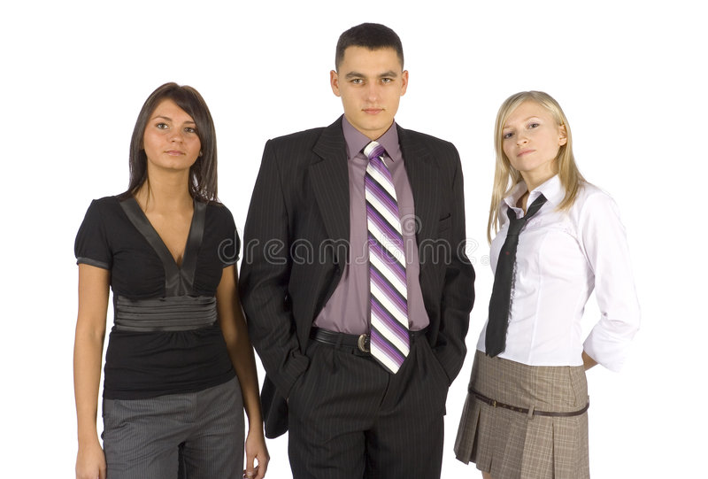 Download Serious Business Trio stock photo. Image of beam, focused - 1705660