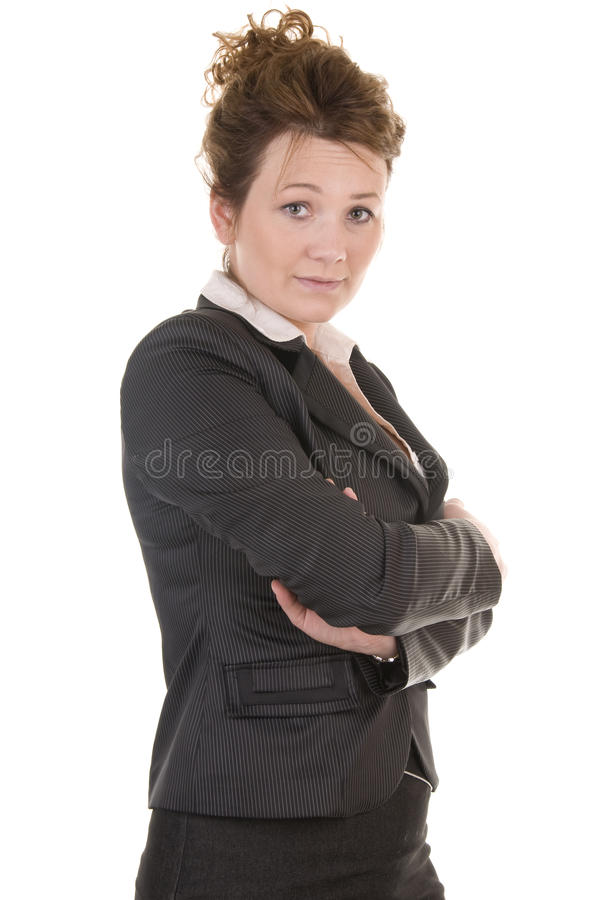 Serious business woman stock photography