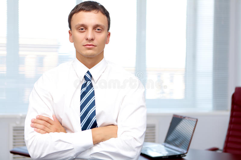 Serious businessman royalty free stock photography