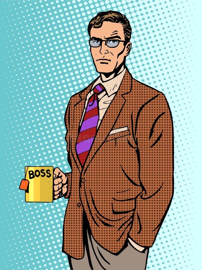 Free Serious Businessman Boss Mug Tea Stock Photos - 61739113