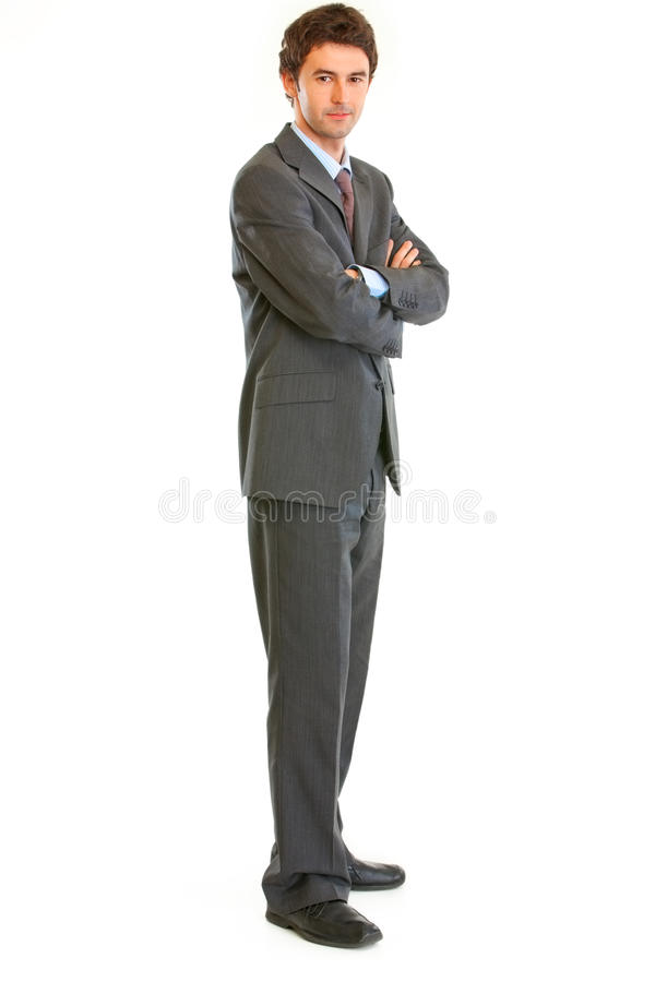 Download Serious Businessman With Crossed Arms On Chest Stock Image - Image: 19696623