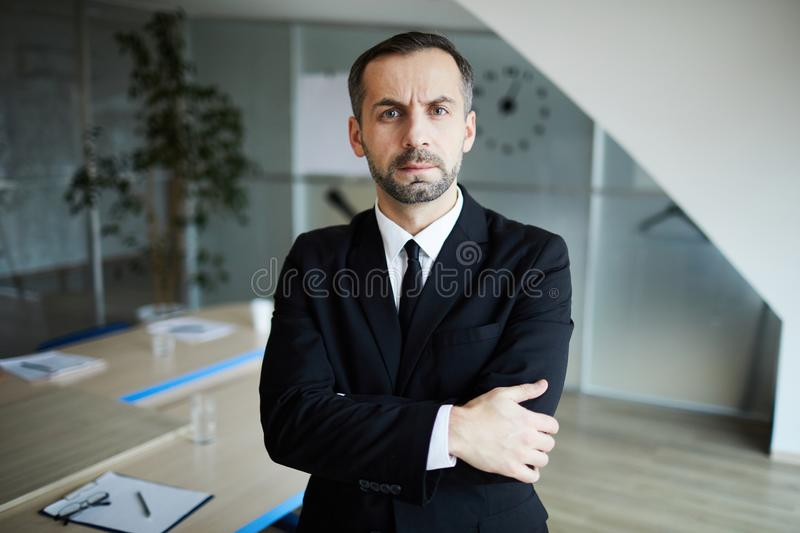 Serious man royalty free stock photography