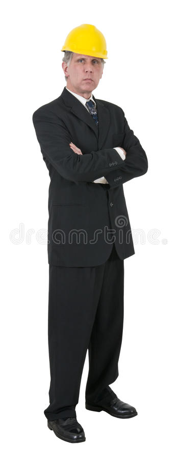 Serious Businessman Man Project Manager Isolated stock photo