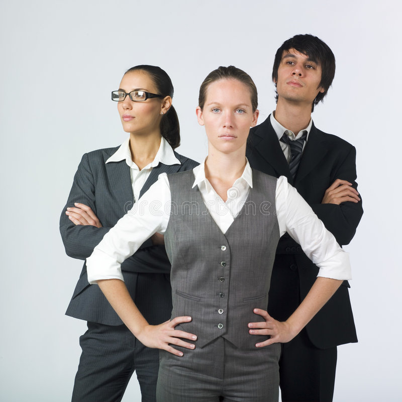 Serious Businesspeople Stock Photo