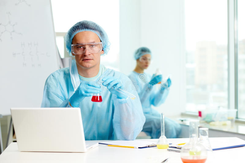 Download Serious Chemist Royalty Free Stock Image - Image: 25442946