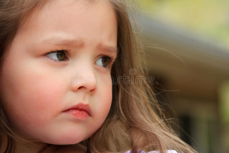 Serious child stock image