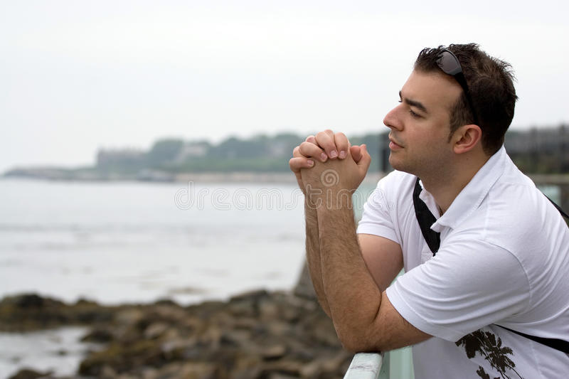 Download Serious Contemplation stock image. Image of faith, meditation - 10020507