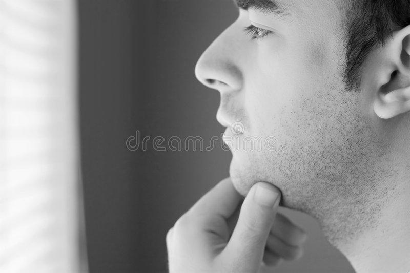 Serious Contemplation Royalty Free Stock Images