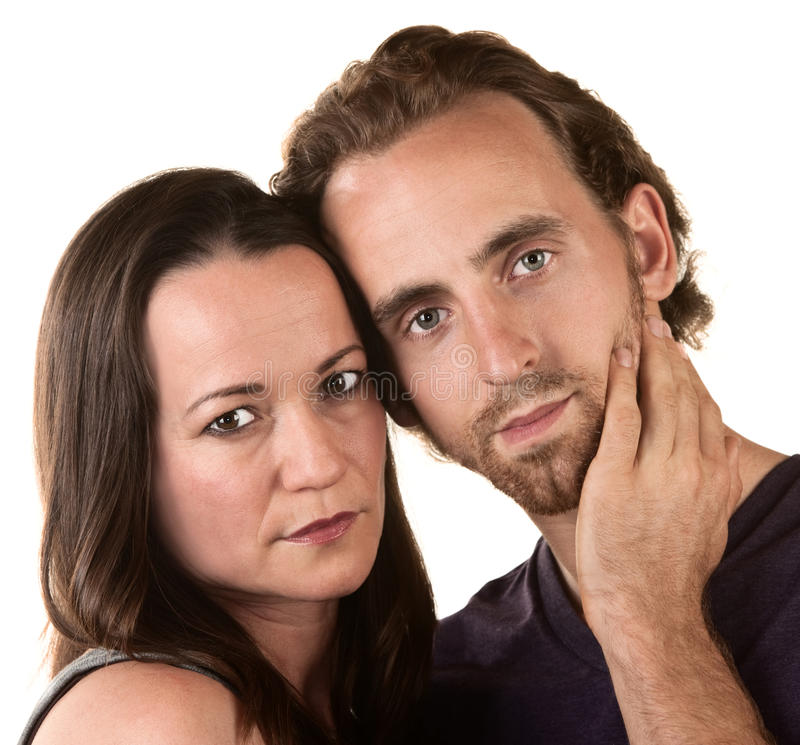 Serious Couple Close Up royalty free stock photography