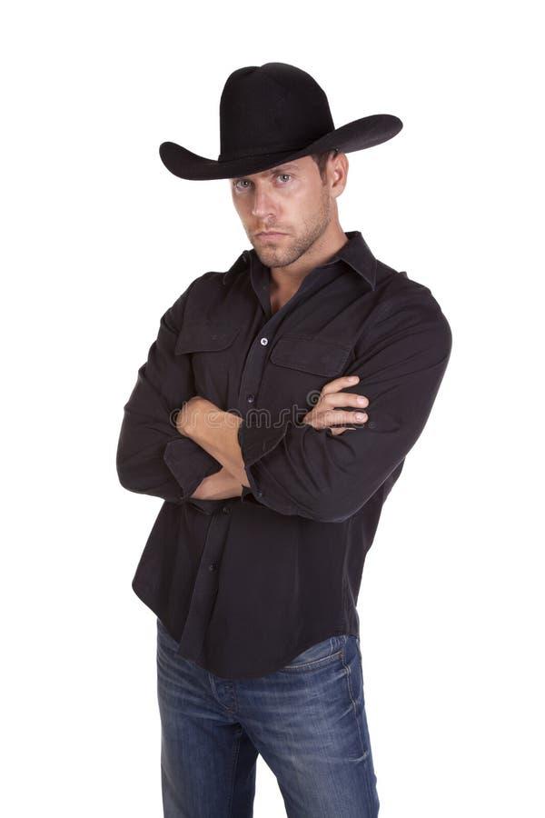 Serious Cowboy Stock Photo