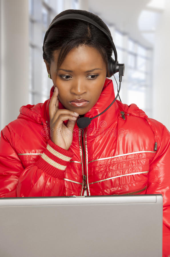 Serious Customer Service Agent royalty free stock photography