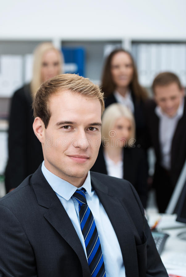 Serious Dedicated Young Businessman Stock Photos