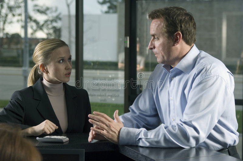 Serious Discussion Royalty Free Stock Image