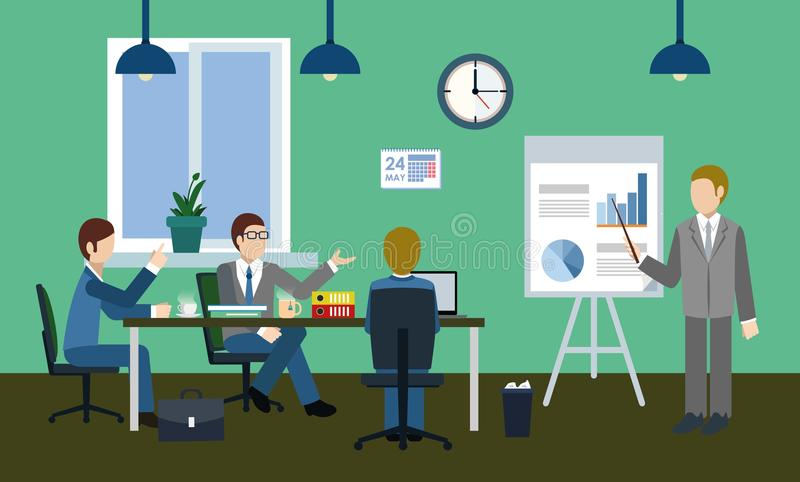 Serious discussion in the office royalty free stock photo