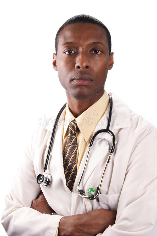 Serious Doctor stock image