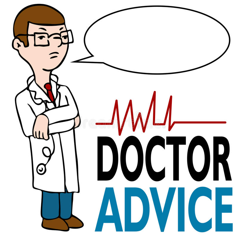 Serious Doctor Giving Advice Royalty Free Stock Photography