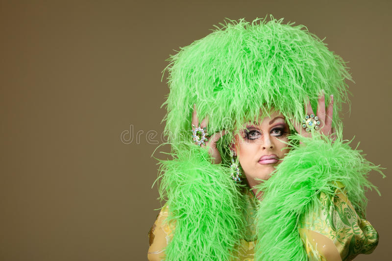 Serious Drag Queen Royalty Free Stock Photography