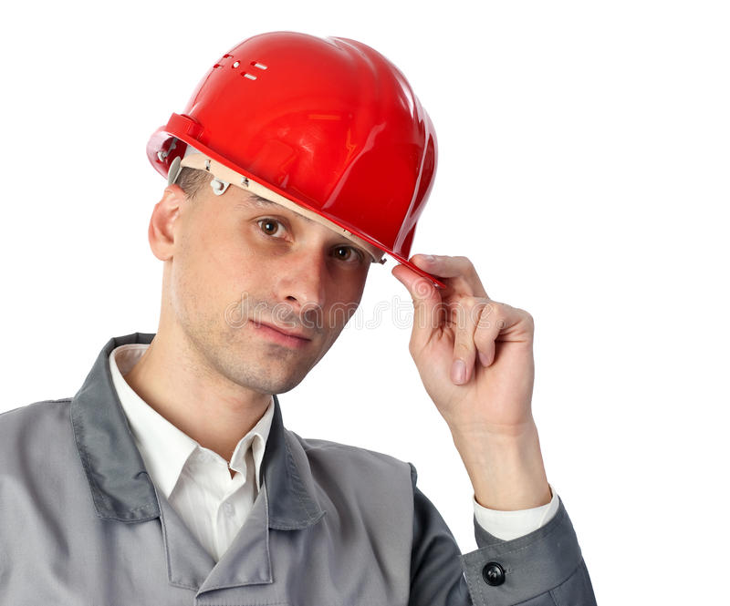 Serious engineer royalty free stock image