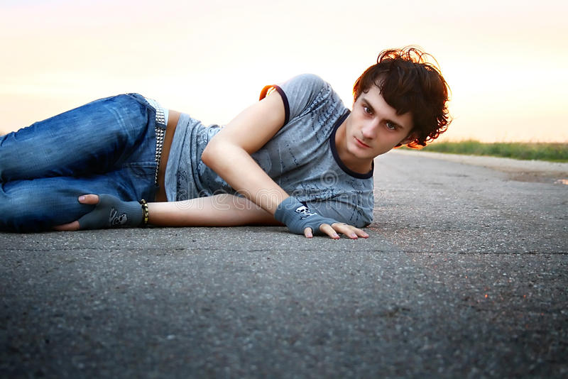 Download Serious guy stock photo. Image of rest, serious, fashion - 12522406