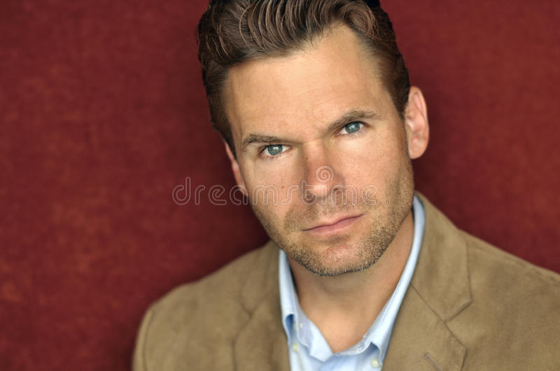 Download Serious handsome man stock photo. Image of hair, face - 26791498