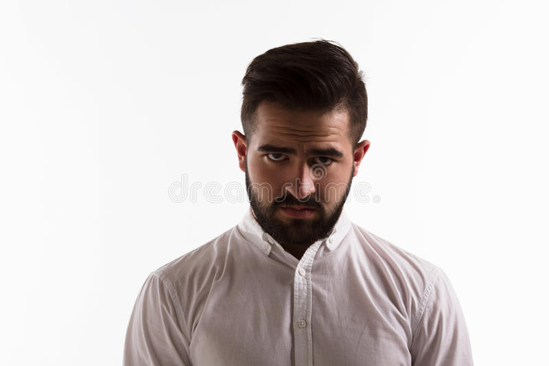Serious handsome man royalty free stock images