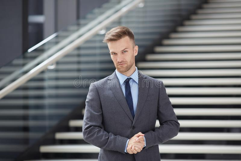 Serious handsome businessman royalty free stock photo