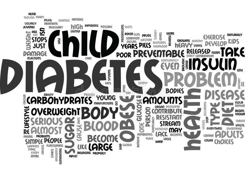 A Serious Health Problem Of Obese Childword Cloud vector illustration