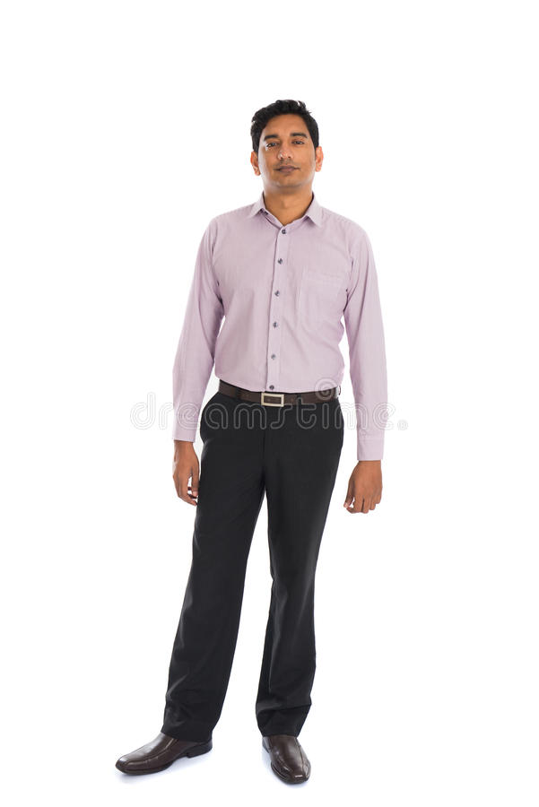 Serious indian male business man stock image