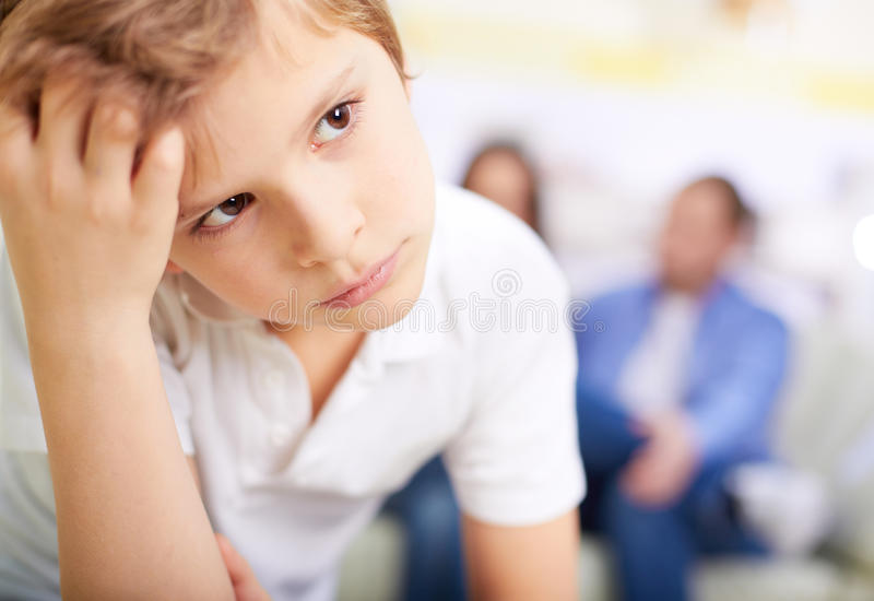 Serious lad stock images
