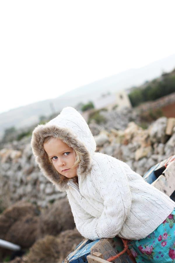Serious little girl royalty free stock photos