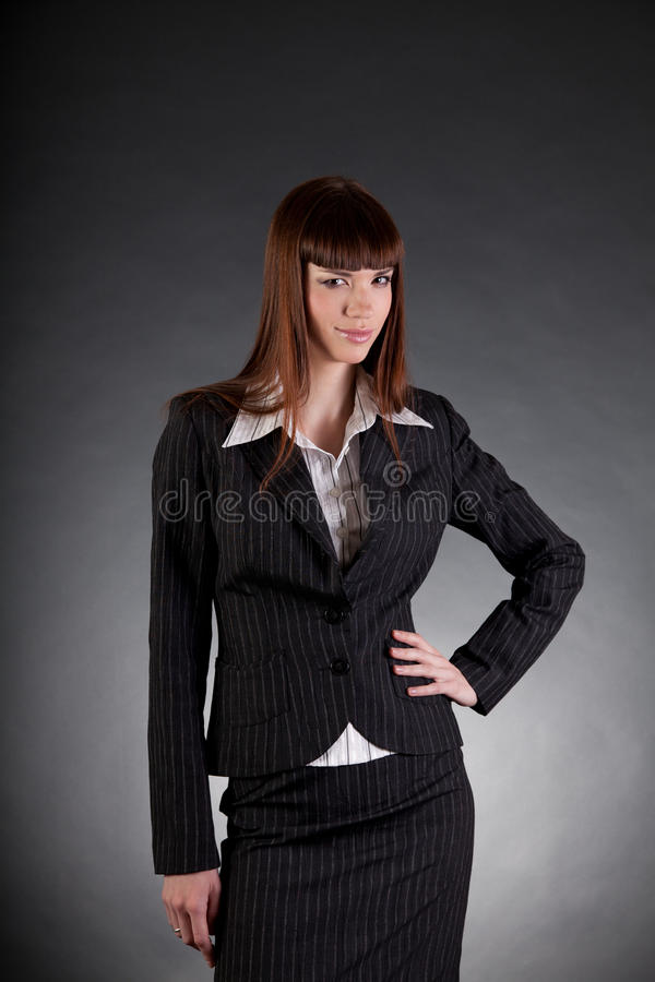Business Woman Zombie Fastening Tie Stock Image - Image of ...