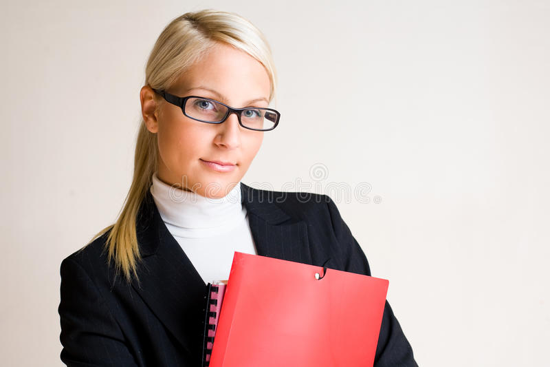 Serious Looking Business Woman. Royalty Free Stock Photography