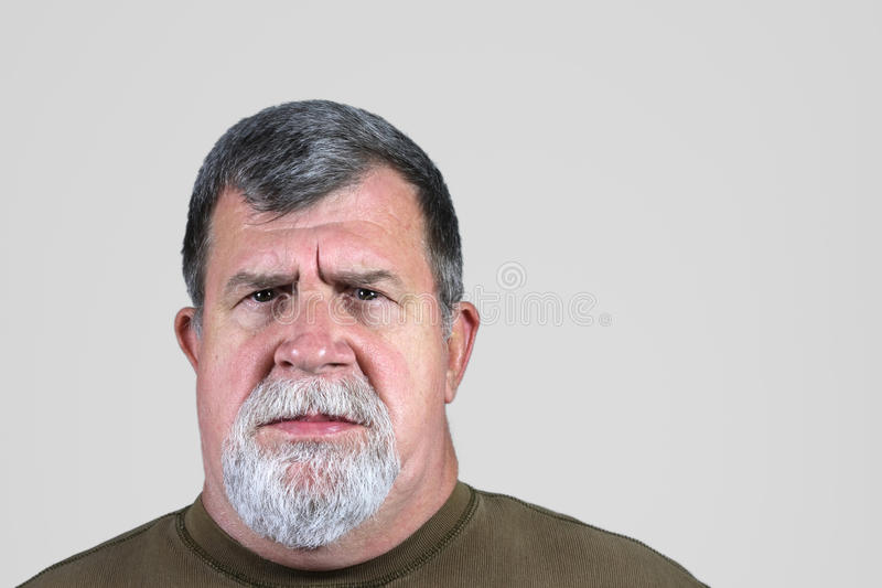 Serious Man. A portrait of a serious man royalty free stock images