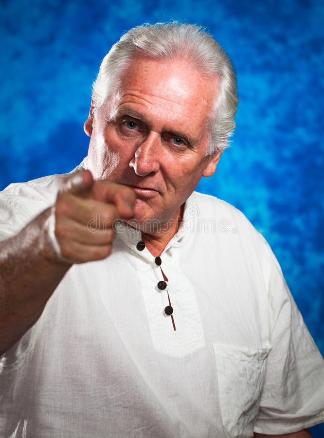 Download Serious Man Pointing At Camera Stock Image - Image of businessman, caucasian: 28893991