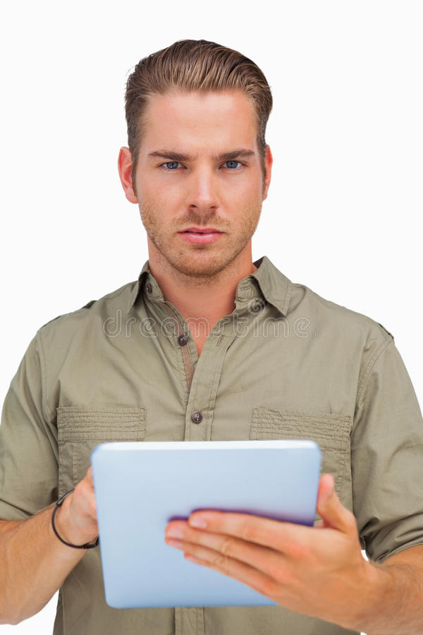 Download Serious Man Using Tablet Pc Stock Photo - Image: 31240668