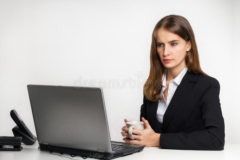 The serious manager royalty free stock photo