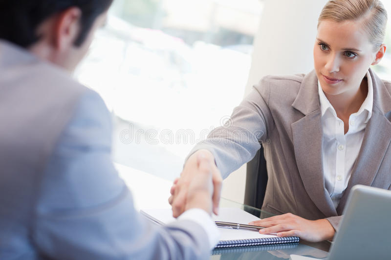 Download Serious Manager Interviewing A Male Applicant Stock Image - Image: 22235873