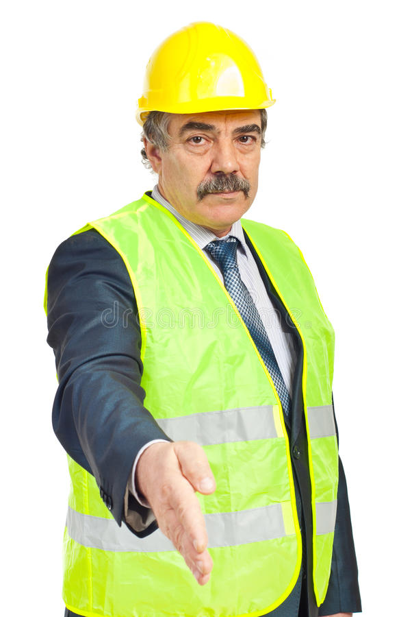 Download Serious Mature Architect Man Handshake Stock Photo - Image: 18282134