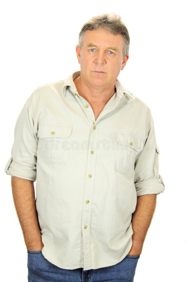 Serious Middle Aged Man stock photos