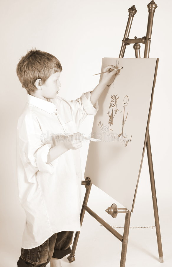 Download Serious painting stock photo. Image of artist, painter - 2104508