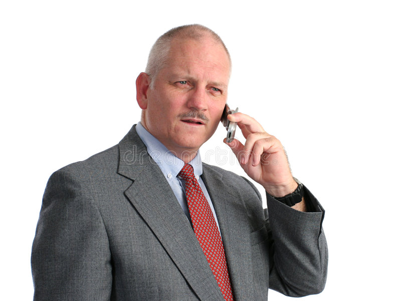 Serious Phone Call Royalty Free Stock Photo