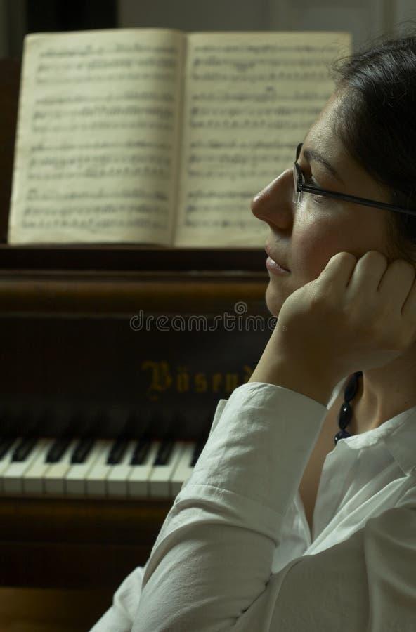 Serious Piano Teacher Portrait Royalty Free Stock Photo