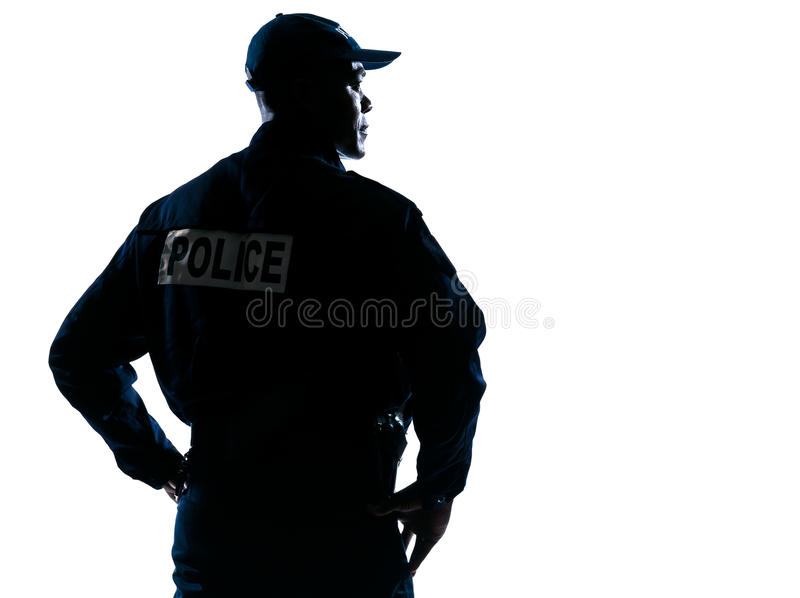 Download Serious Policeman With Looking To His Side Stock Image - Image: 28444091