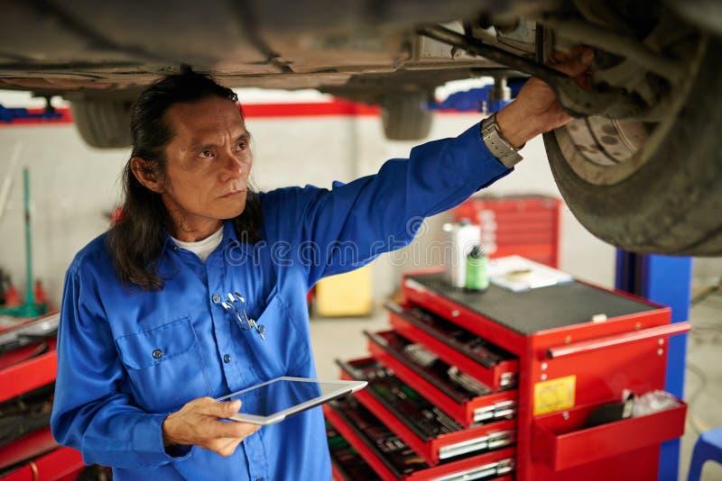 Repairing car royalty free stock photo
