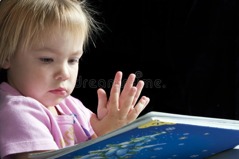 Serious Reading stock photography