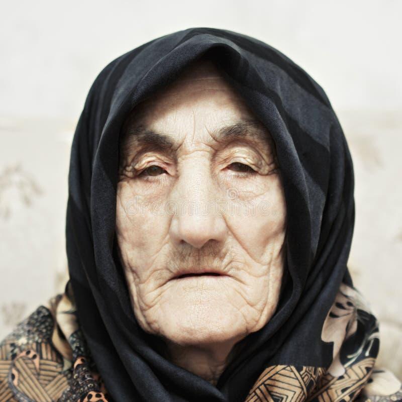 Serious senior woman royalty free stock photo