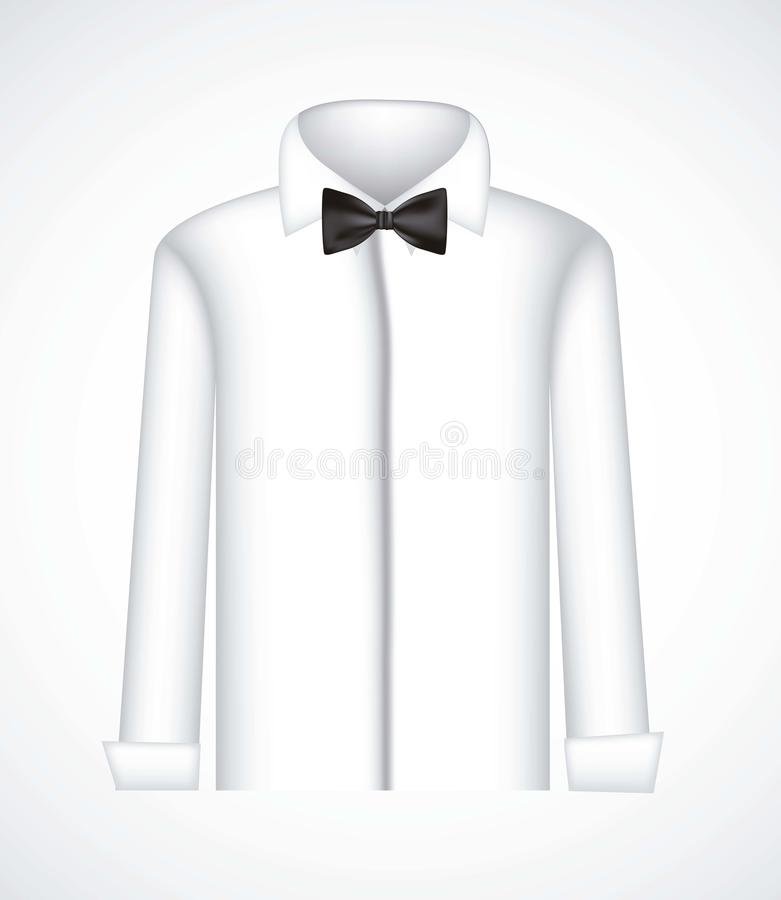 Serious shirt with bow tie