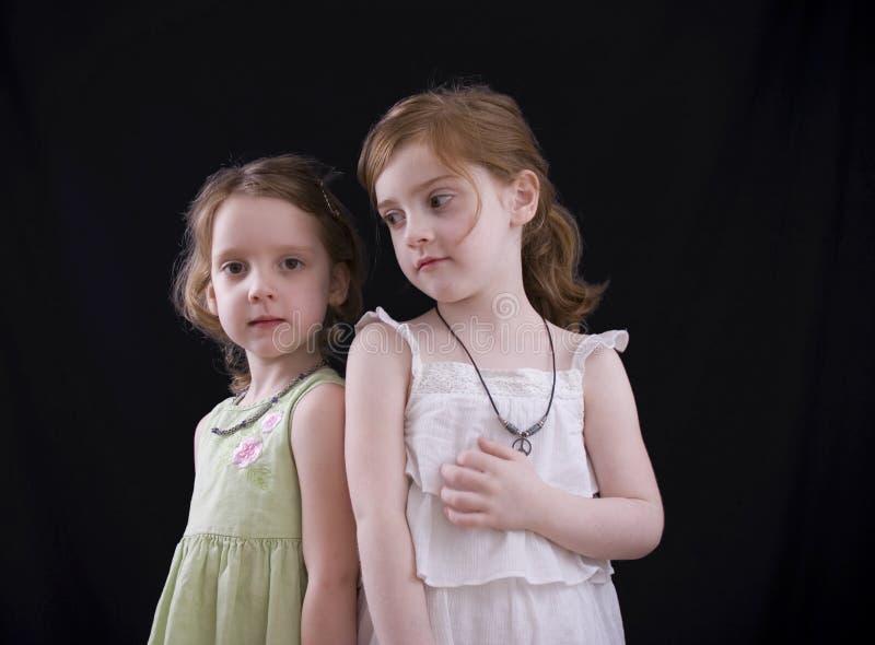 Serious Sisters stock photos
