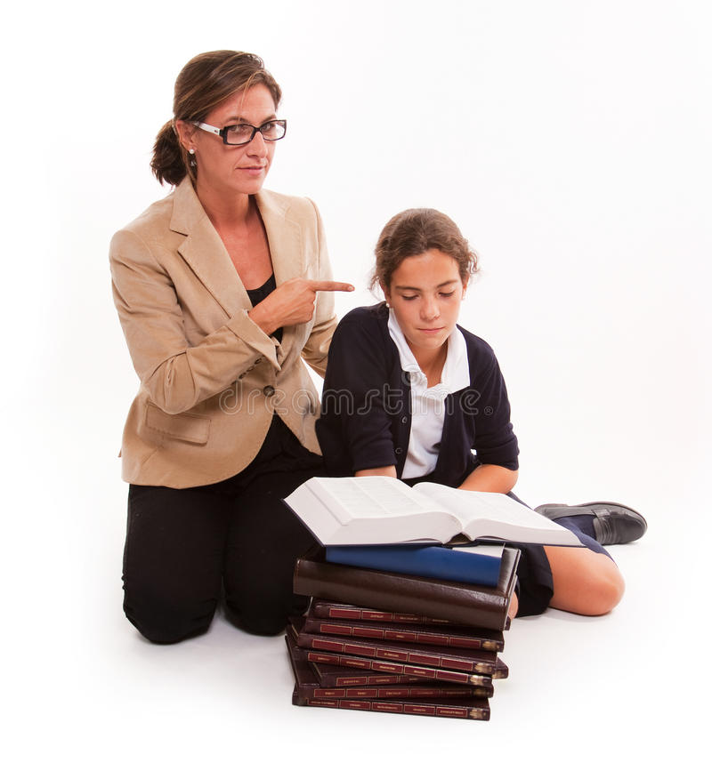 Download Serious Teaching stock photo. Image of student, mother - 19451448